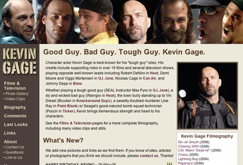Kevin Gage website