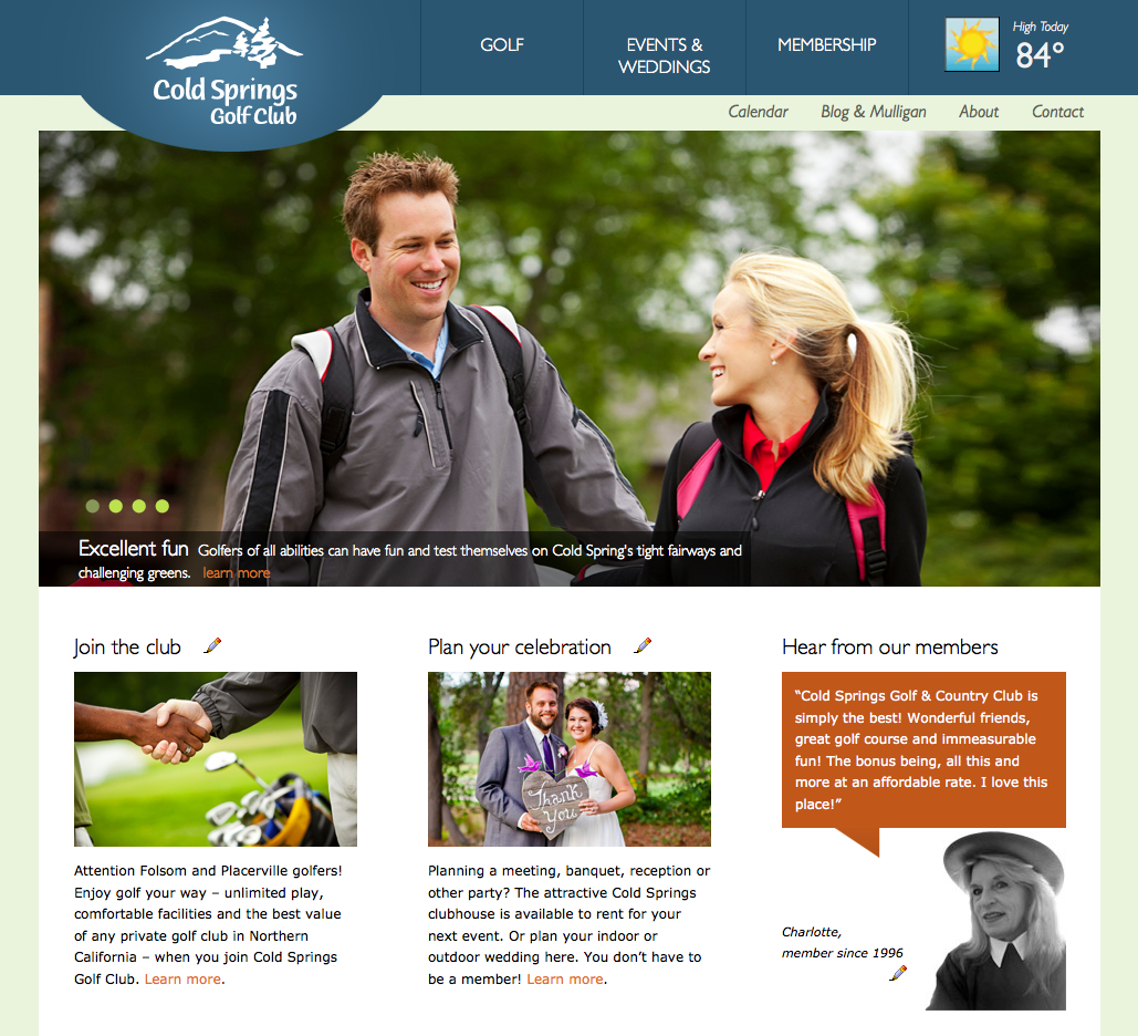 Cold Springs Golf Course website