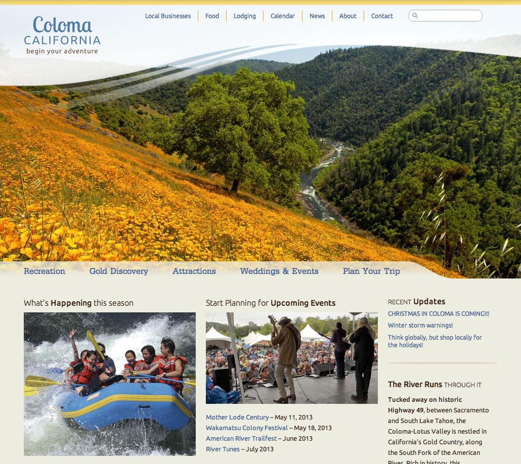 Coloma, California website