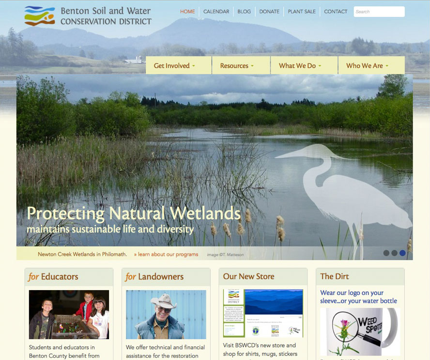 Benton Soil & Water Conservation District website
